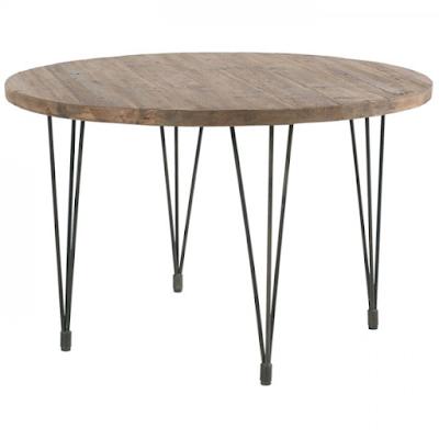 Acheter Table Ronde120cm Pin Recycle Et Fer Motown Casita A