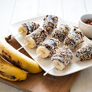 Toasted Coconut & Pecan Dark Chocolate Banana Pops