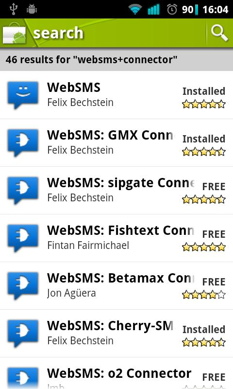 WebSMS - screenshot