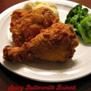 Spicy Buttermilk Brined Fried Chicken