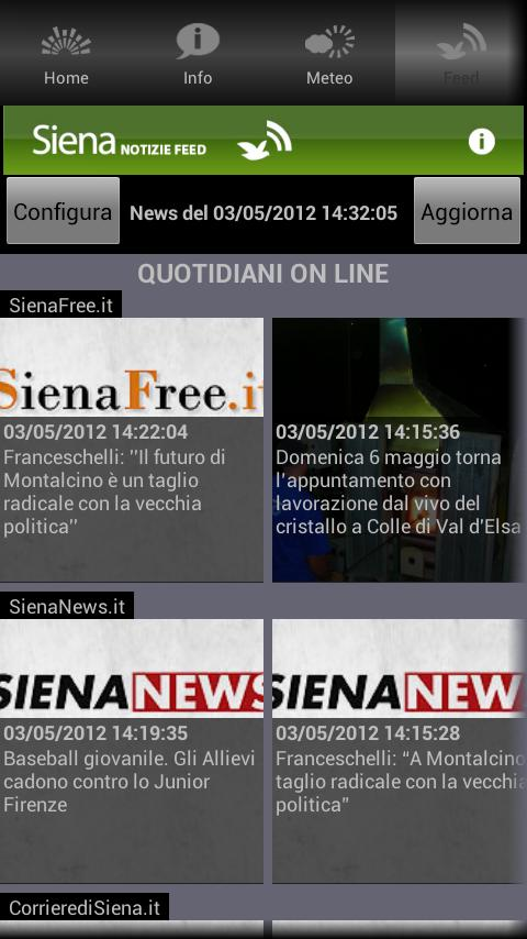 Siena App - screenshot