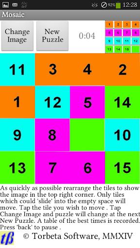 Mosaic : Slide Puzzles