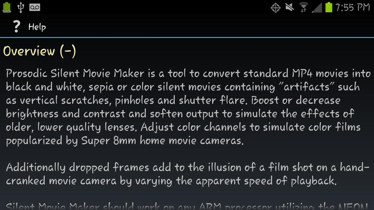 Silent Movie Maker (Free) - screenshot