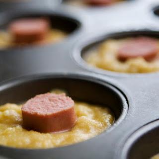 Gluten Free Corn Dog Muffins.