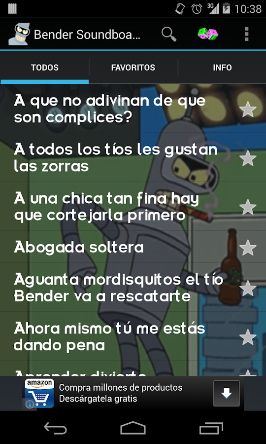 Bender Soundboard (Español) - screenshot