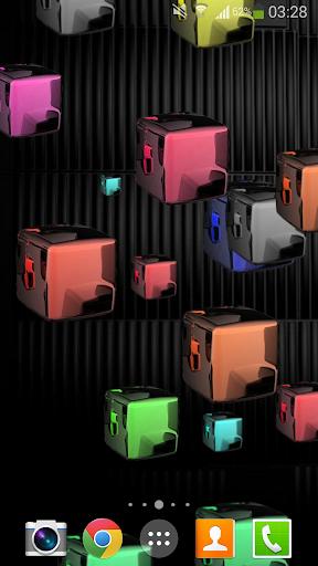 Glow Cubes HD Live Wallpaper