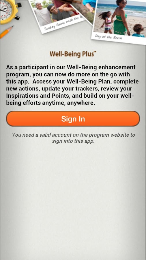 Well-Being Plus- screenshot
