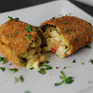Mac and Cheese Stuffed Chile Relleno