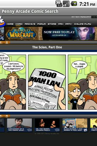 Penny Arcade Comic Search- screenshot