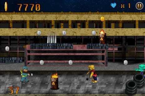 【免費冒險App】Block Zombie Pixel Highway 3D-APP點子