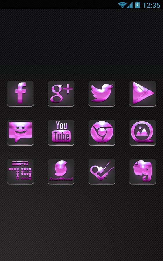 Future Pink - Icon Pack - screenshot