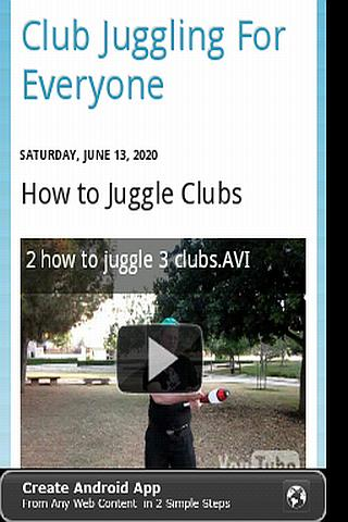 Learn to Juggle Clubs- screenshot