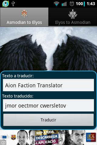 Aion Faction Translator - screenshot