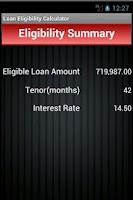 Screenshot of Loan Eligibility Calculator