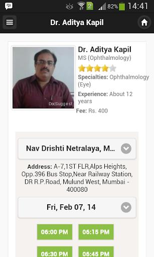Dr Aditya Kapil Appointments