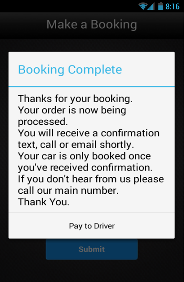 Taxi in Windsor- screenshot