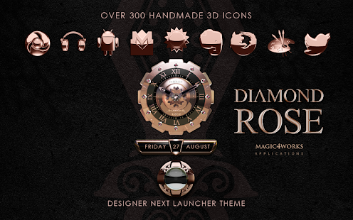 Next Launcher Theme Diamond