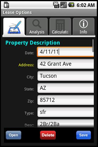 Lease Option Evaluator - screenshot