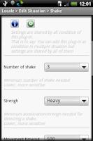 Screenshot of Locale Shake Plug-in