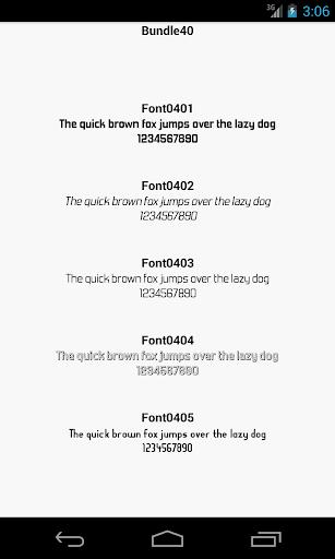 Fonts for FlipFont 40