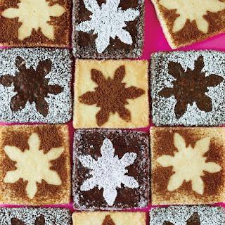 Snowflake-Stenciled Shortbread Cookies