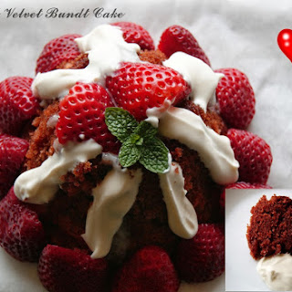 Mini Red Velvet Bundt Cake.