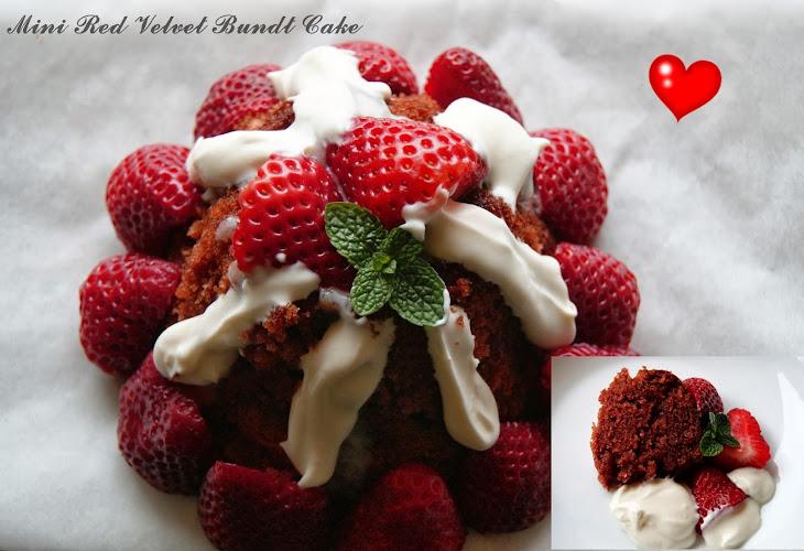 Mini Red Velvet Bundt Cake