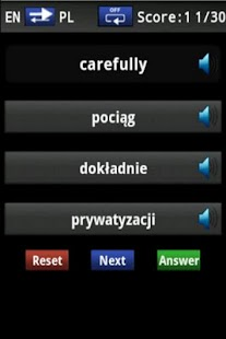 Vocabulary Trainer (PL/EN) Int- screenshot thumbnail