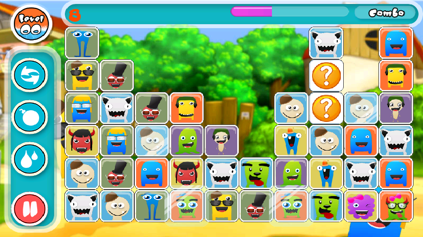 Cute Monsters Match Link Game- screenshot