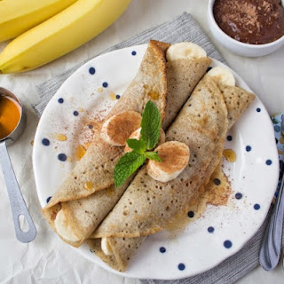 Buckwheat Crepes with Chocolate Sauce.