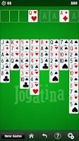Screenshot of FreeCell Jogatina