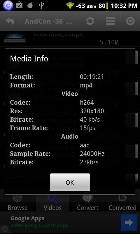 Video Converter Android - screenshot