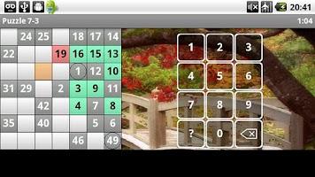 Screenshot of NumberSnake: Hidato