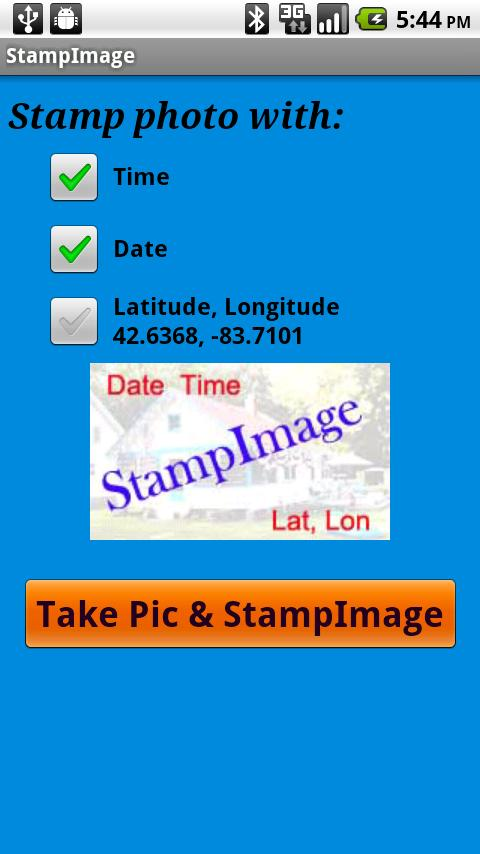 StampImage - screenshot