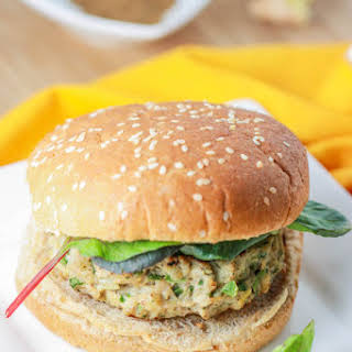 Indian Spiced Chicken Burgers.
