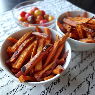 Spiced & Caramelized Sweet Potato Fries.