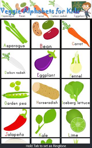 Veggie Alphabets ABC