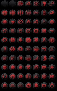 3D Black and Red - Icon Pack- screenshot thumbnail