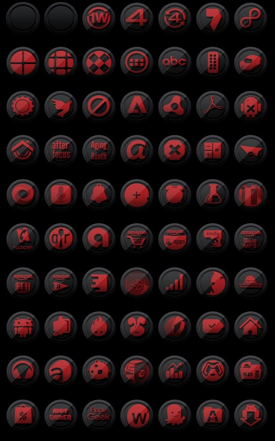 3D Black and Red - Icon Pack- screenshot