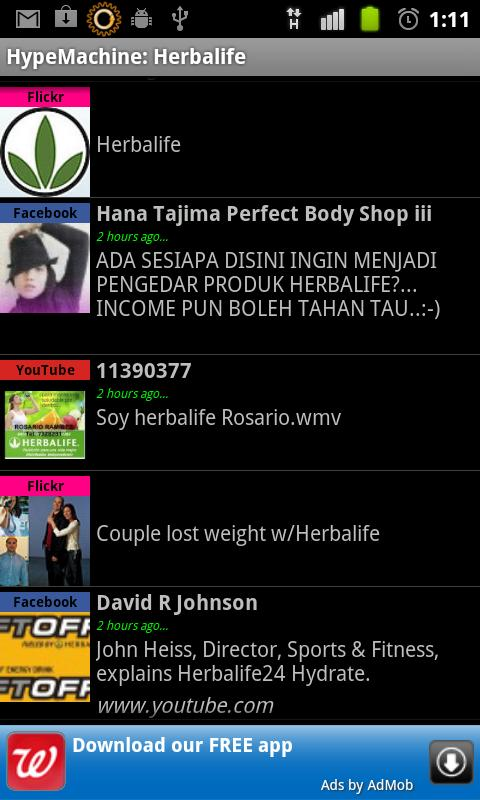 Herbalife on BuzzTrends- screenshot