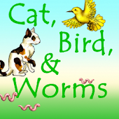Cat Bird and Worms