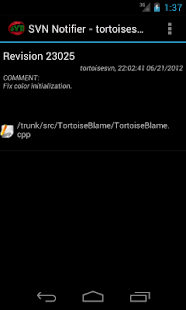 SVN Notifier Lite for Android - screenshot thumbnail