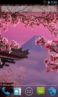 Screenshot of Sakura 3D. Live wallpaper.