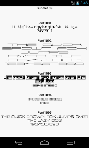 Fonts for FlipFont 109