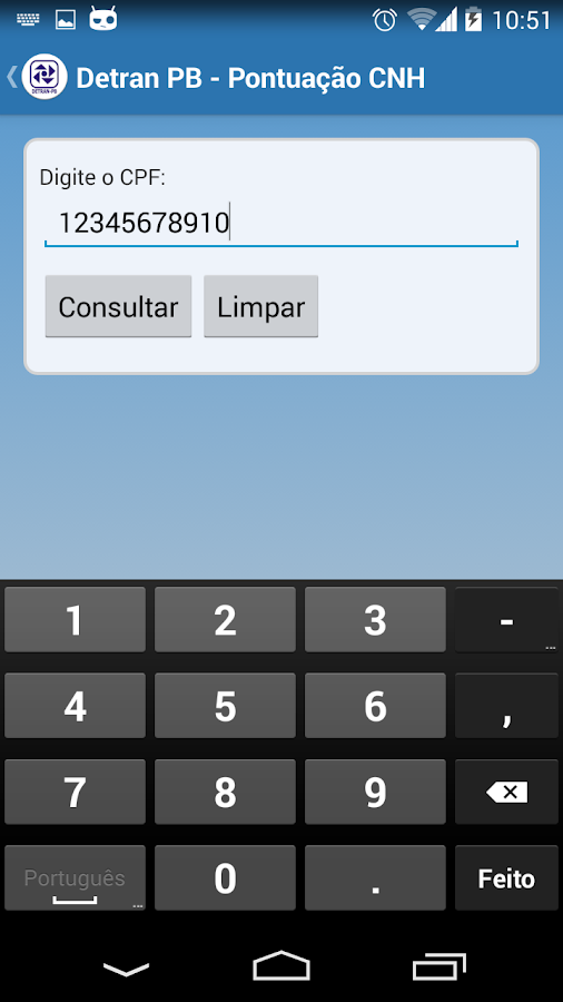 Detran-PB Mobile- screenshot