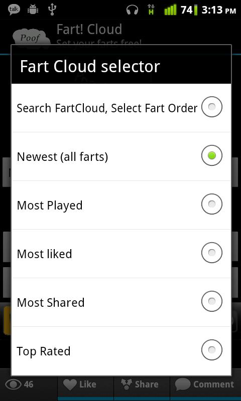 FartCloud - screenshot