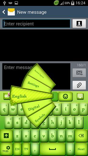 绿色电源键盘