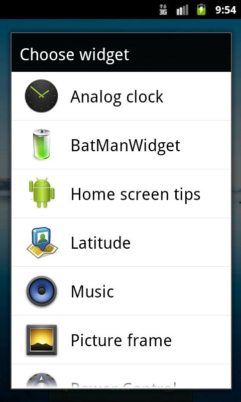BatManWidget - screenshot