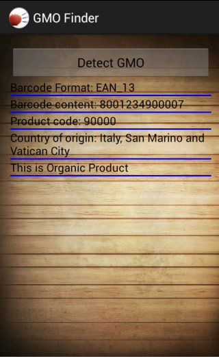GMO Finder- screenshot