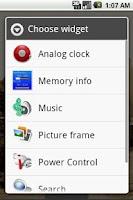 Screenshot of Memory info